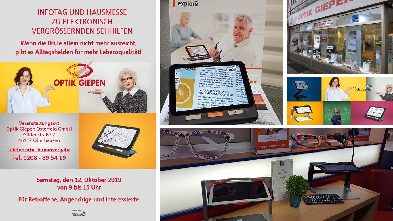 12.10.2019 – Infotag und Hausmesse bei Optik Giepen Osterfeld GmbH